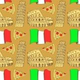 Sketch Italian pattern Royalty Free Stock Image