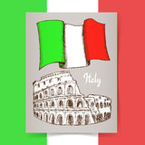 Sketch Italian poster Royalty Free Stock Images