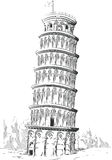 Sketch of Italy Landmark - Tower of Pisa Royalty Free Stock Photography