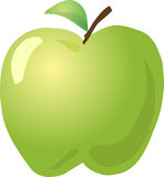 sketch jabłkowego Zdjęcia Stock