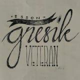 Sketch. Javanish language, indonesia gresik Royalty Free Stock Image