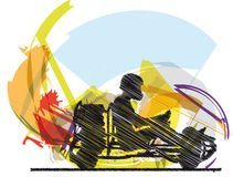 Sketch of kart race. Illustration made in adobe illustrator Stock Image