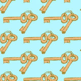 Sketch keys in vintage style Stock Photos