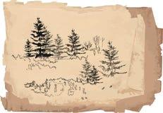 Sketch of landscape Royalty Free Stock Photo