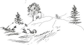 Sketch of landscape Royalty Free Stock Image