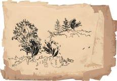 Sketch of landscape Stock Photos