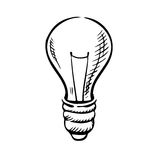 Sketch of light bulb icon. Light bulb icon in sketch style for idea concept theme. Hand drawn image vector illustration