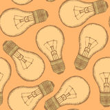 Sketch light bulb in vintage style Royalty Free Stock Photography