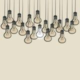 Sketch lightbulb background Stock Photography