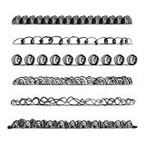 Sketch line border set. Hand-drawn line border set Royalty Free Stock Photo