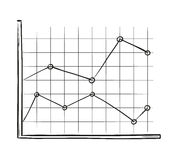Sketch of the line chart Stock Image