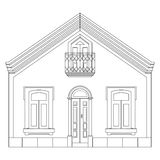 Sketch line at home. House sketch. Vector illustration Stock Image