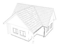 Sketch line at home. Vector illustration Royalty Free Stock Images