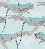 Sketch of a lizard Royalty Free Stock Photography