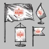 Sketch Logo Flags Set Royalty Free Stock Image