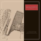 Graphic illustration with decorative architecture 71. Sketch of London. Vector illustration vector illustration