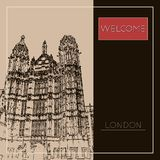 Graphic illustration with decorative architecture 73. Sketch of London. Vector illustration Royalty Free Stock Photos