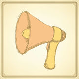 Sketch loud speaker in vintage style Royalty Free Stock Image