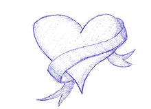 Sketch of love heart Stock Photography