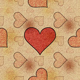 Sketch love (Seamless texture) Royalty Free Stock Photography