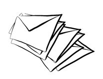 Sketch Mail Stock Image