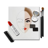 Sketch-Make-up Stock Photography