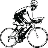 Sketch of male on a bicycle Stock Photo