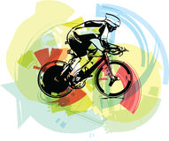 Sketch of male on a bicycle Royalty Free Stock Photos