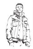 Sketch man Stock Photography