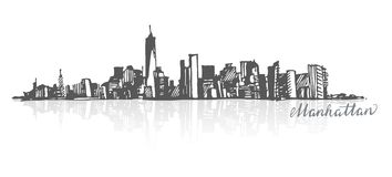 Sketch of Manhattan New York Royalty Free Stock Photography