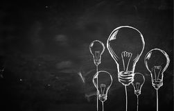 Sketch Many Bulbs background. Digital art Stock Photos