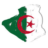 Sketch map flag Algeria Royalty Free Stock Photography