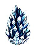 The sketch marker is an abstract pine cone of blue color. Hand-d. Rawn Stock Photos
