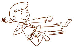 A sketch of a martial arts expert Royalty Free Stock Image