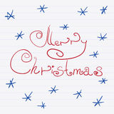 Sketch Merry Christmas Royalty Free Stock Photo