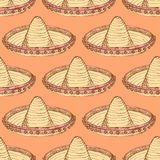 Sketch mexican sombrero in vintage style Royalty Free Stock Images