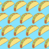 Sketch mexican taco in vintage style Stock Image