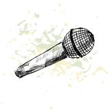 Sketch microphone. Stock Photography