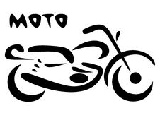 Sketch of modern motorcycle. Vector illustration Stock Image