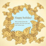 Sketch moth insect in vintage style. Vector Stock Photos