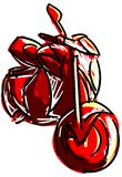 Sketch of a motorcycle  in red Stock Photography