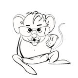Sketch mouse Stock Image