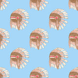 Sketch native american's hat in vintage style Royalty Free Stock Photography