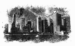 Sketch Of New York City Stock Image