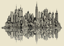 Sketch of new york. Vector illustration of a sketch of new york (fictitious Stock Photo