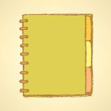 Sketch notebook with spiral Royalty Free Stock Photography