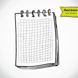 Sketch of notebook. Vector illustration with hand drawn Stock Images