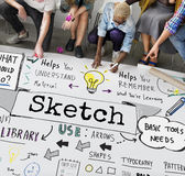 Sketch Notes Creative Drawing Design Graphic Concept Royalty Free Stock Images