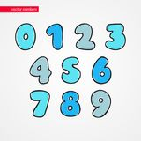 Sketch numbers. Decorative funny isolated 0 1 2 3 4 5 6 7 8 9 icons for kids. Symbols for design. Sketch numbers. Decorative funny isolated 0 1 2 3 4 5 6 7 8 9 Stock Photos