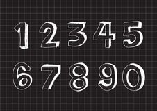 Sketch numbers 0-9 Royalty Free Stock Image